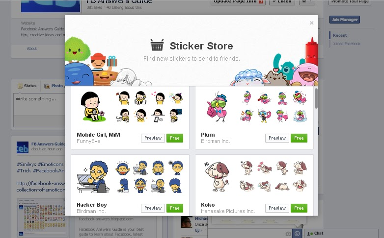 How to add new Facebook Stickers to your Facebook chat window