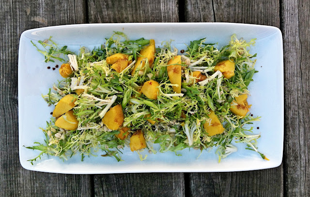 Acorn Squash, Frisée and Barley Salad