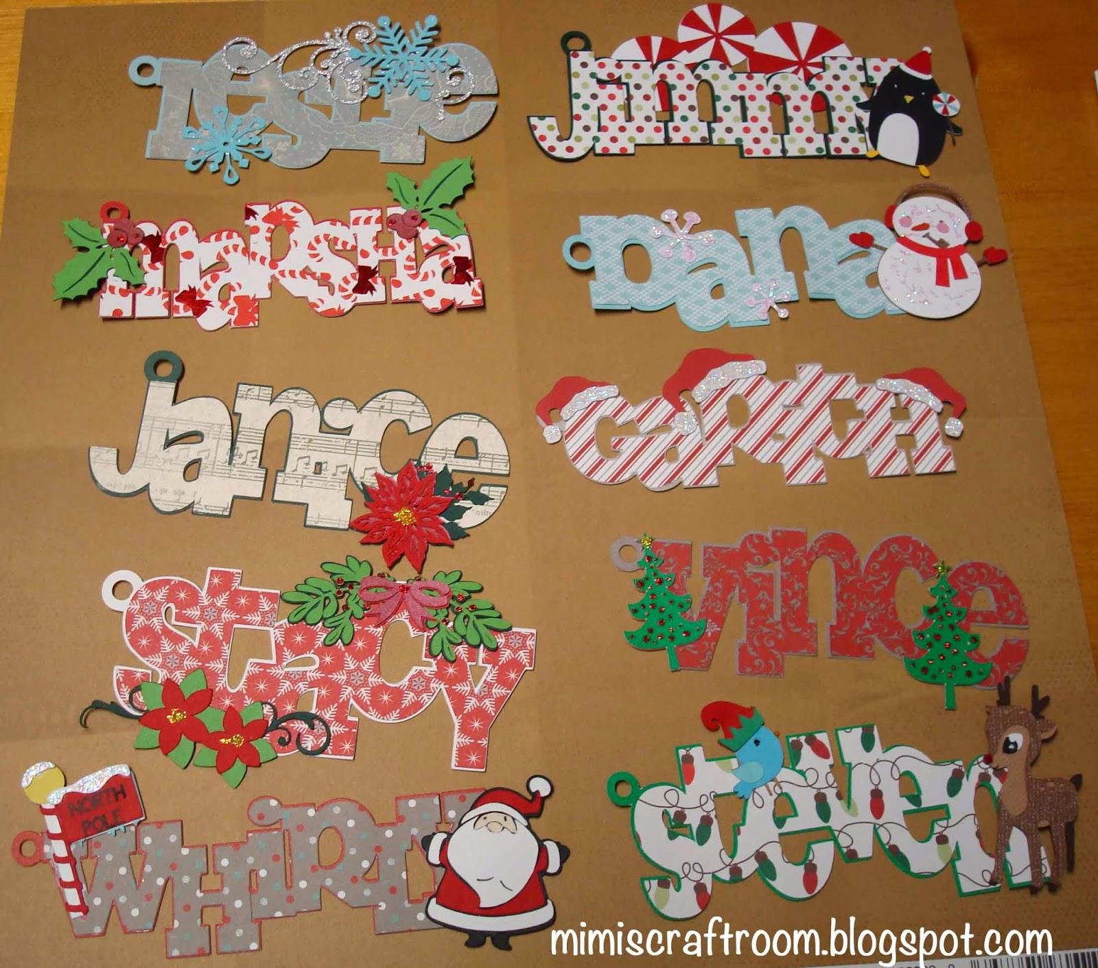 Mimis Craft Room Christmas Name Tags with Cricut Explore