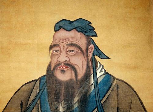 Uma das inúmeras imagens representando o grande sábio da China, Confúcio