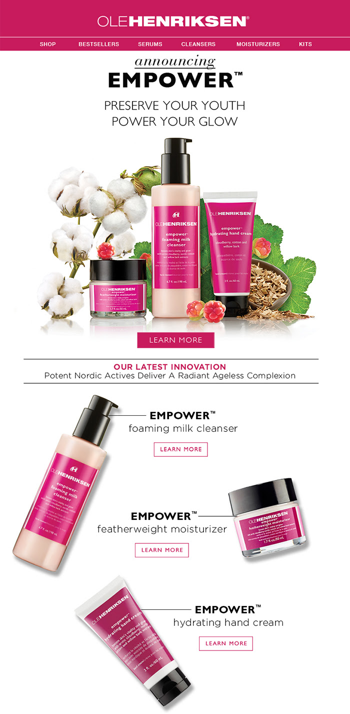 Introducing: Ole Henriksen EMPOWER cloudberry line at Sephora.