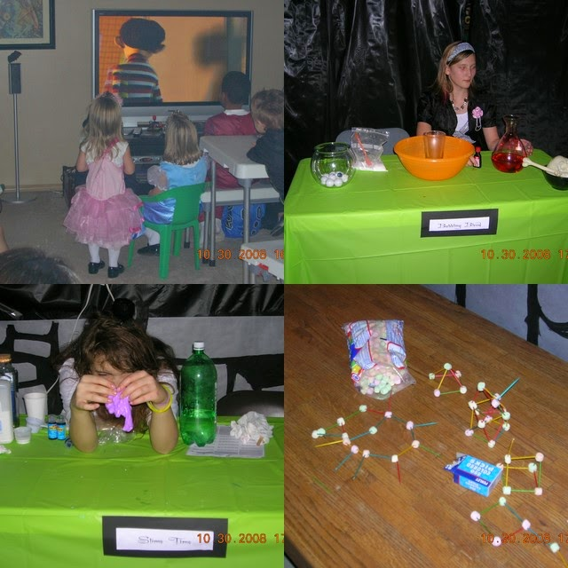 Mad Scientist's Lab Halloween Party activities