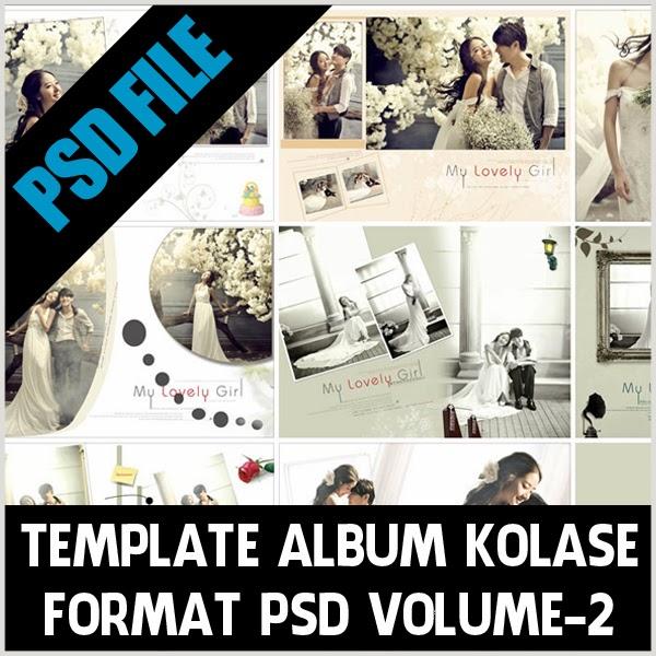 Template Album Kolase Format PSD Volume-2,