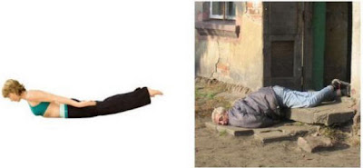 Yoga Positions Vs Liquor Positions Salambhasana+yoga