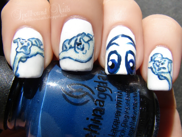 nails nailart nail art polish mani manicure Spellbound character Casper Ghosts Stinky Stretch Fatso friendly