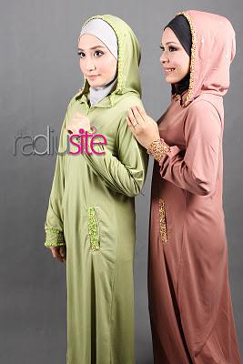 hannah hijab jubah hoodie