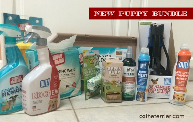 Oz the Terrier received the New Puppy Holiday Bundle from RPG Innovations