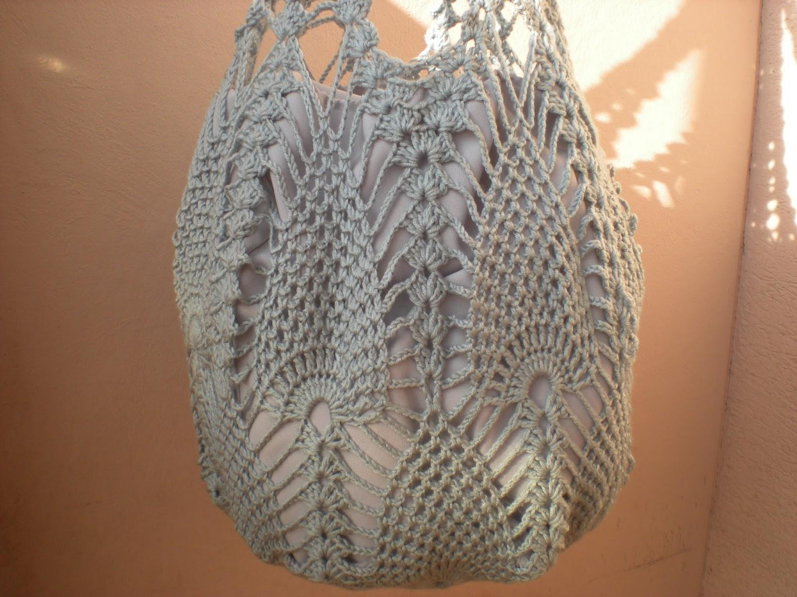 EmmHouse: Pineapple market bag – written pattern, chart