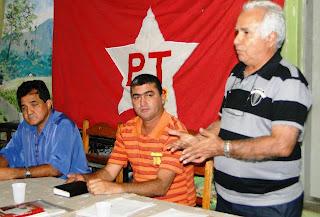 José+Alves,+José+Rivelino+ pres+PT,+e+prefeito+João+Pereira Prefeitos mineiros desistem de concorrer ao segundo mandato