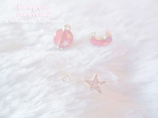 born pretty store Starry Sky Moon Ear Cuff Set review
