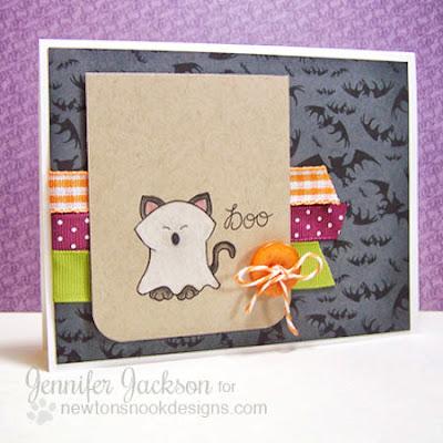 Ghost Kitty Halloween Card using Boo Crew Stamp set