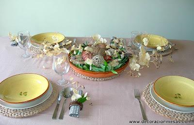 decoracion mesas mesa rustica para el otoño