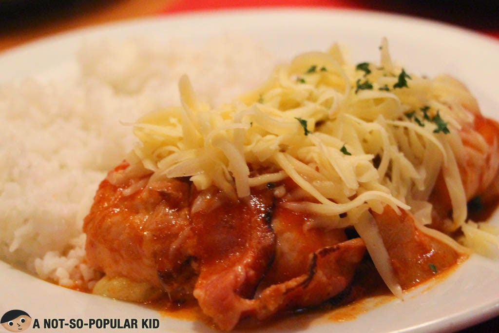 The excitingly well-curated Stuffed Chicken with Tomato Sauce of Balkan