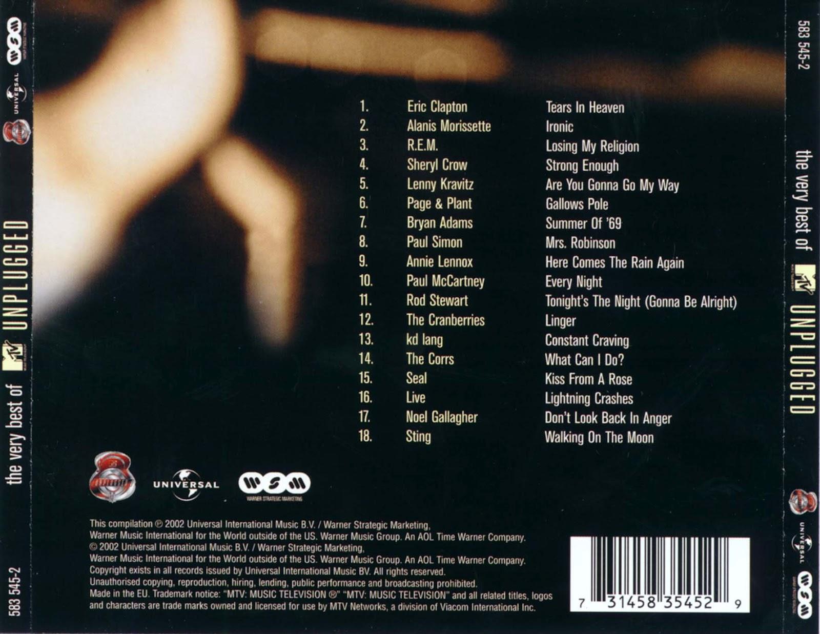 Mtv Unplugged List Of Performances