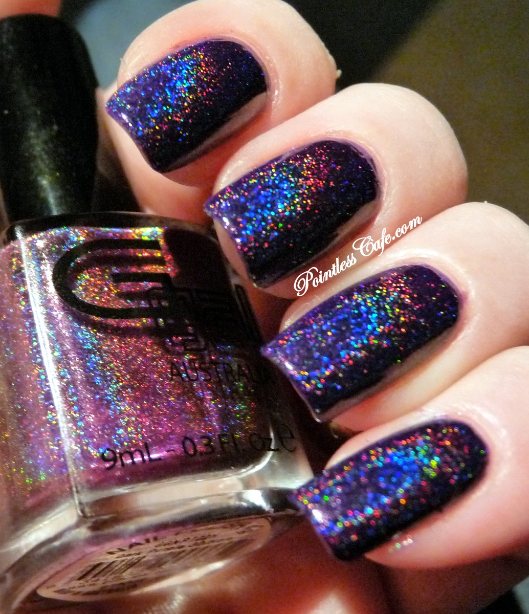 Glitter Gal Dark Purple 3D Holo - Swatches and Review | Pointless Cafe