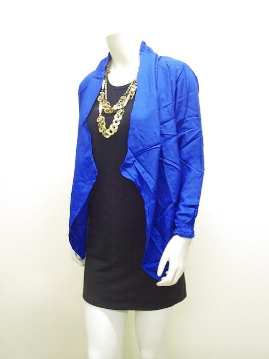 Model Baju Cardigan Ayu Ting Ting Warna Biru