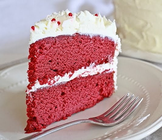 Lemon Drop: Red Velvet Cake with White Chocolate Frosting