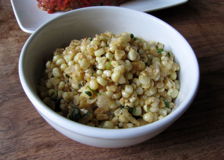 Smells Like Food in Here: Cilantro-Lime Corn Saute