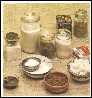 Clases de azúcar para cocinar.
