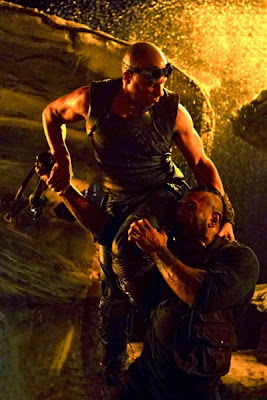 Vin Diesel and Dave Bautista in Riddick