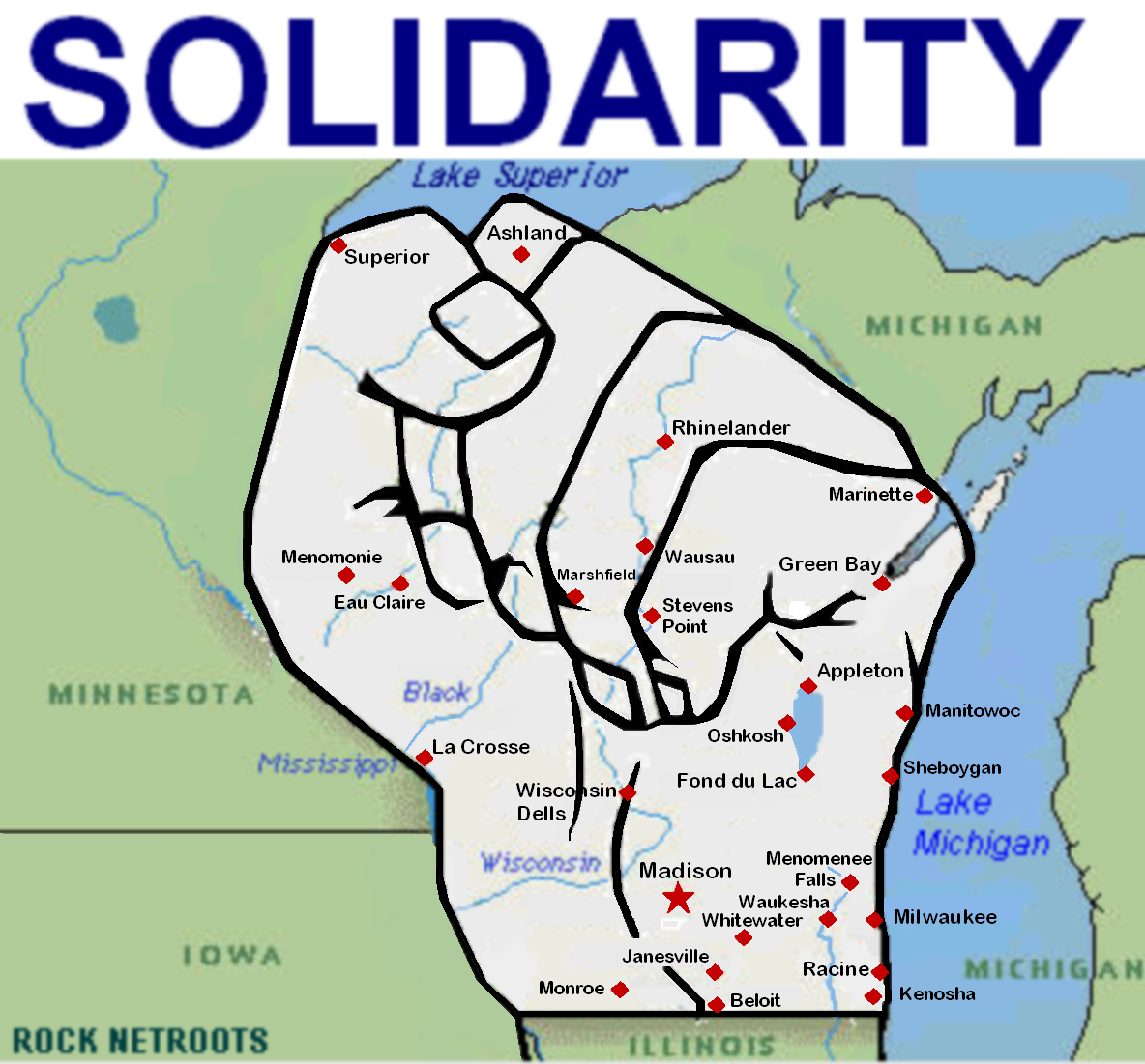 Wisconsin = solidarity