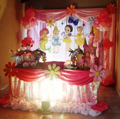 DECORACIONES CON LAS PRINCECITAS decoracionesparafiestasinfantiles.blogspot.com