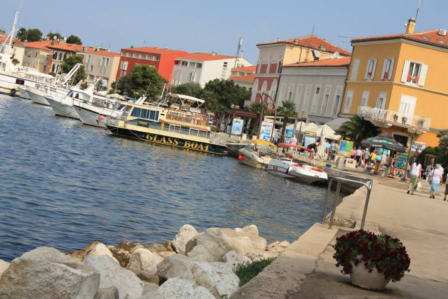 Porec Croatia  city photos gallery : Marina and promenade of Porec in Croatia