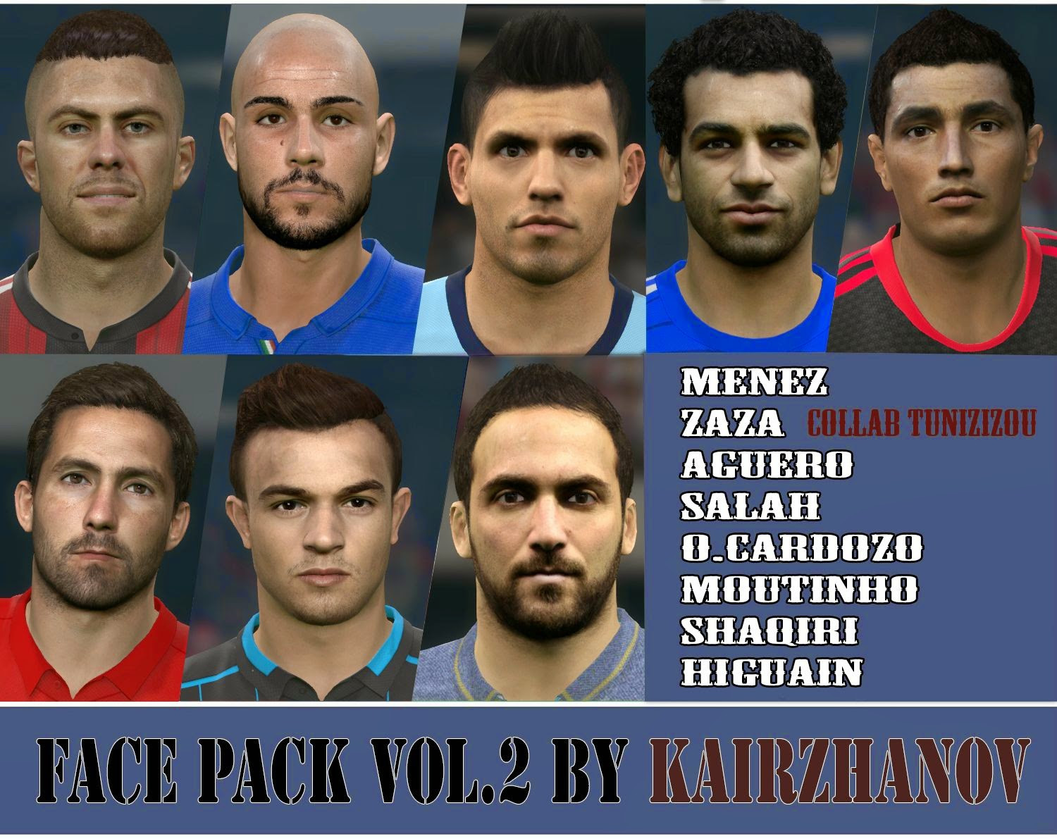 PES 2015 Face Pack Vol.2 by Kairzhanov