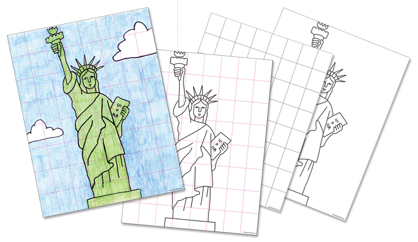 Statue Of Liberty Template For Kids Viewing Gallery