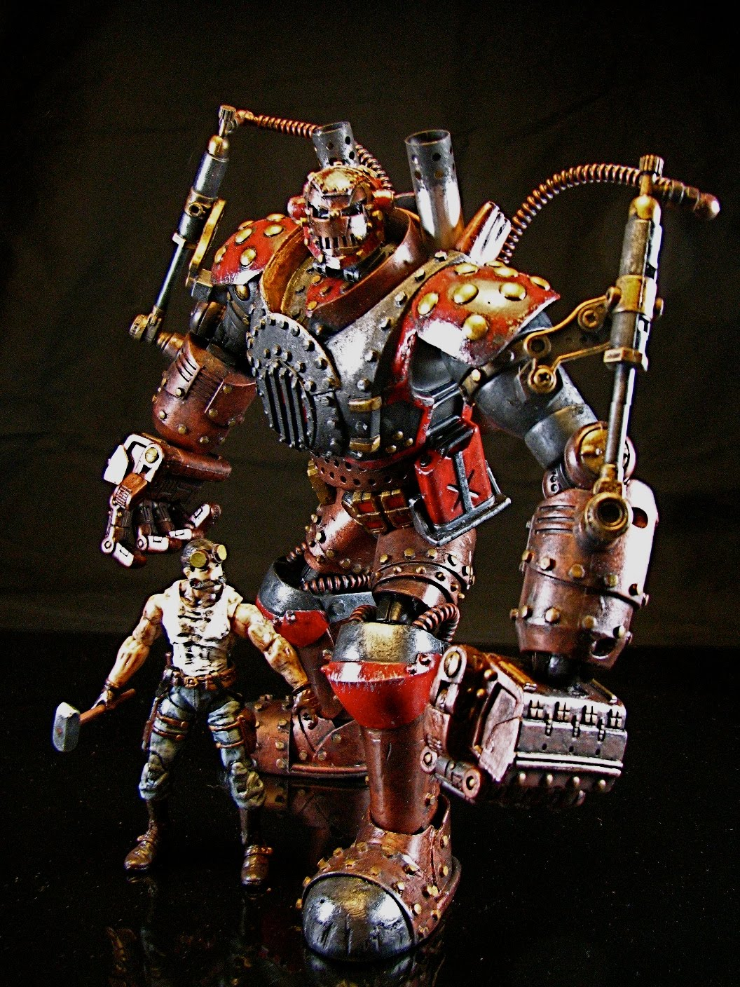 Toys For Gentleman : Packratstudios steam punk iron man