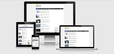 Cara Mudah Screenshot Template Blog Responsive