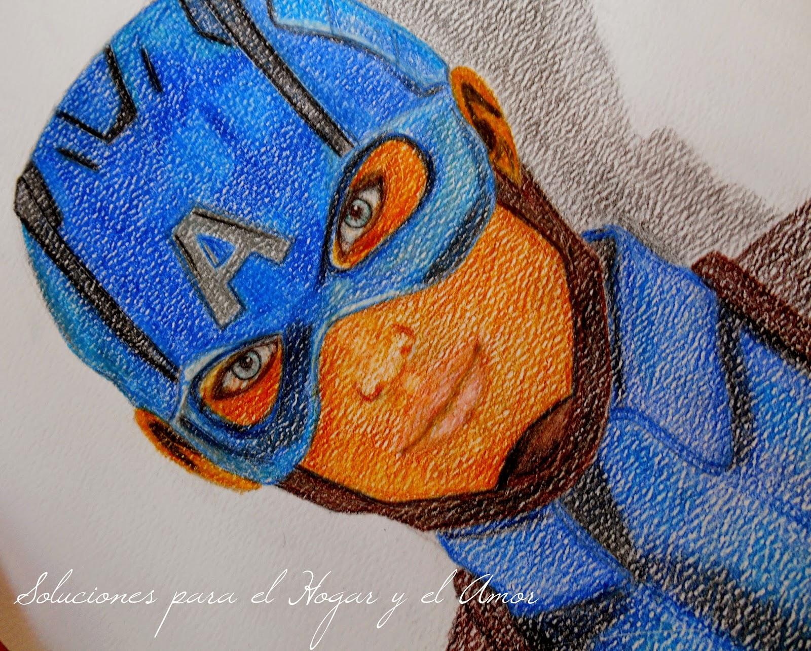 Mis Lápices y Dibujos, Capitán América, Captain America