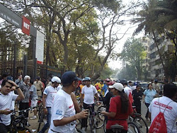 """Termination of """"28Kms Amateur ride"""" at entrance of """"MET Ground""""."""