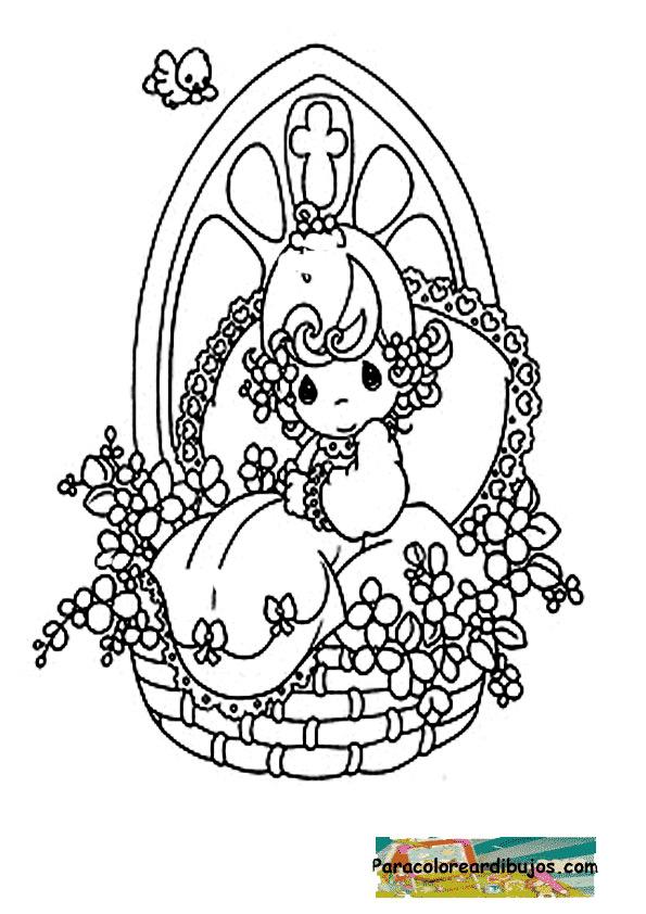 Dibujo de bautizo para colorear