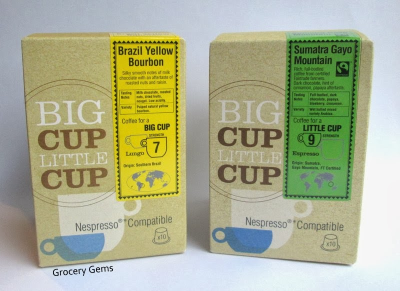 grocery gems review discount code big cup little cup nespresso compatible capsules. Black Bedroom Furniture Sets. Home Design Ideas