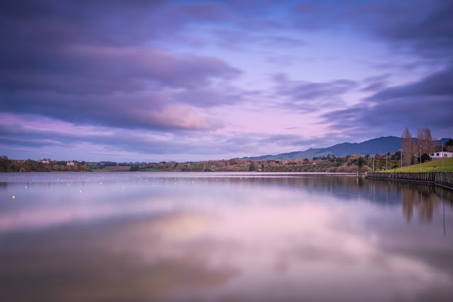Lake Karapiro violet skies