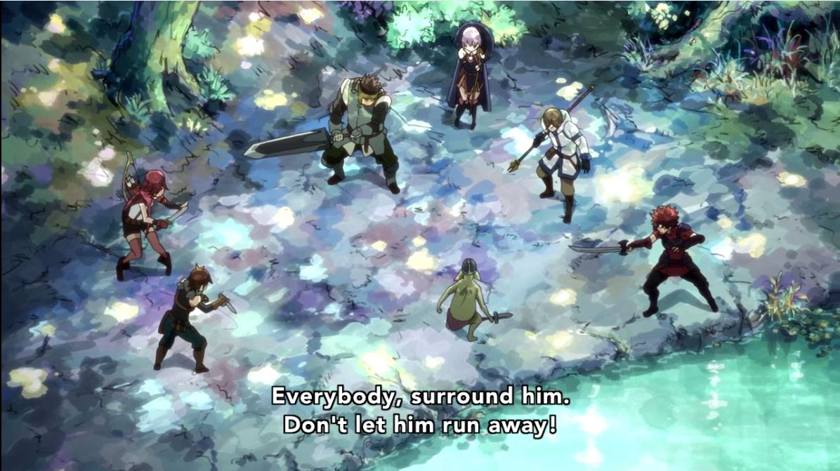 A Field Of Several Stars Grimgar Episode 2 Showing