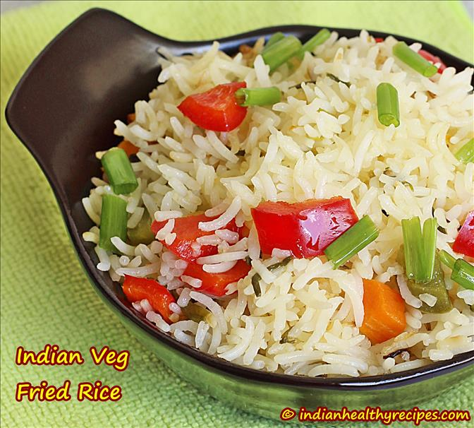 veg fried rice recipe, how to make vegetable fried rice recipe
