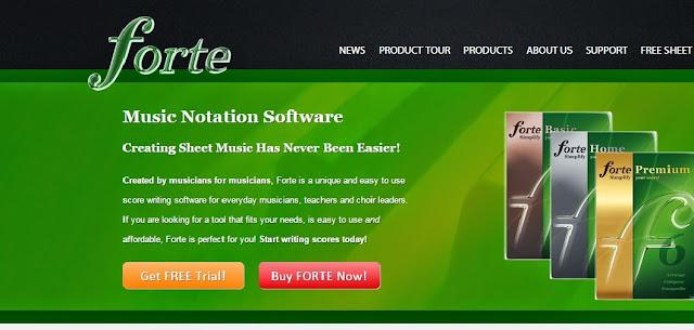 Editor de partitura Forte 6 premium