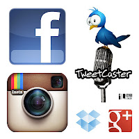 google apps - social media - facebook, tweetcaster, instagram, dropbox, g+
