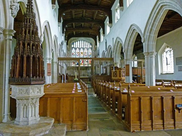 Ewelme church, nave