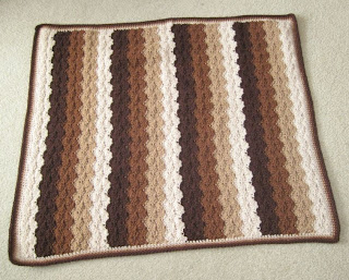 brown shells afghan