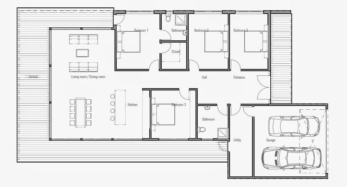 Suficiente Projetos de Casas: Projeto de casa contemporânea CH170 QP58