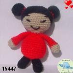 patron gratis muñeca Pucca amigurumi, free pattern amigurumi Pucca doll