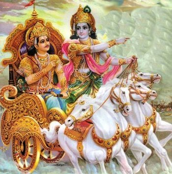 Krishna and Arjuna in the Gita - Essay by Swami Nikhilanand, disciple of Jagadguru Shree Kripaluji Maharaj