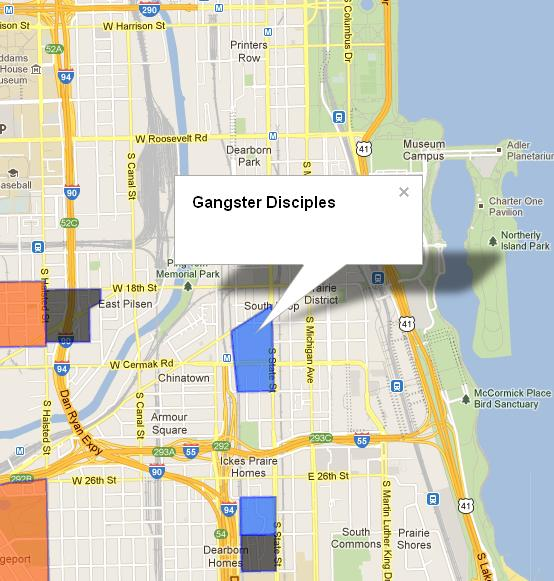Sloopin  A South Loop Blog Interactive Chicago Gang Map