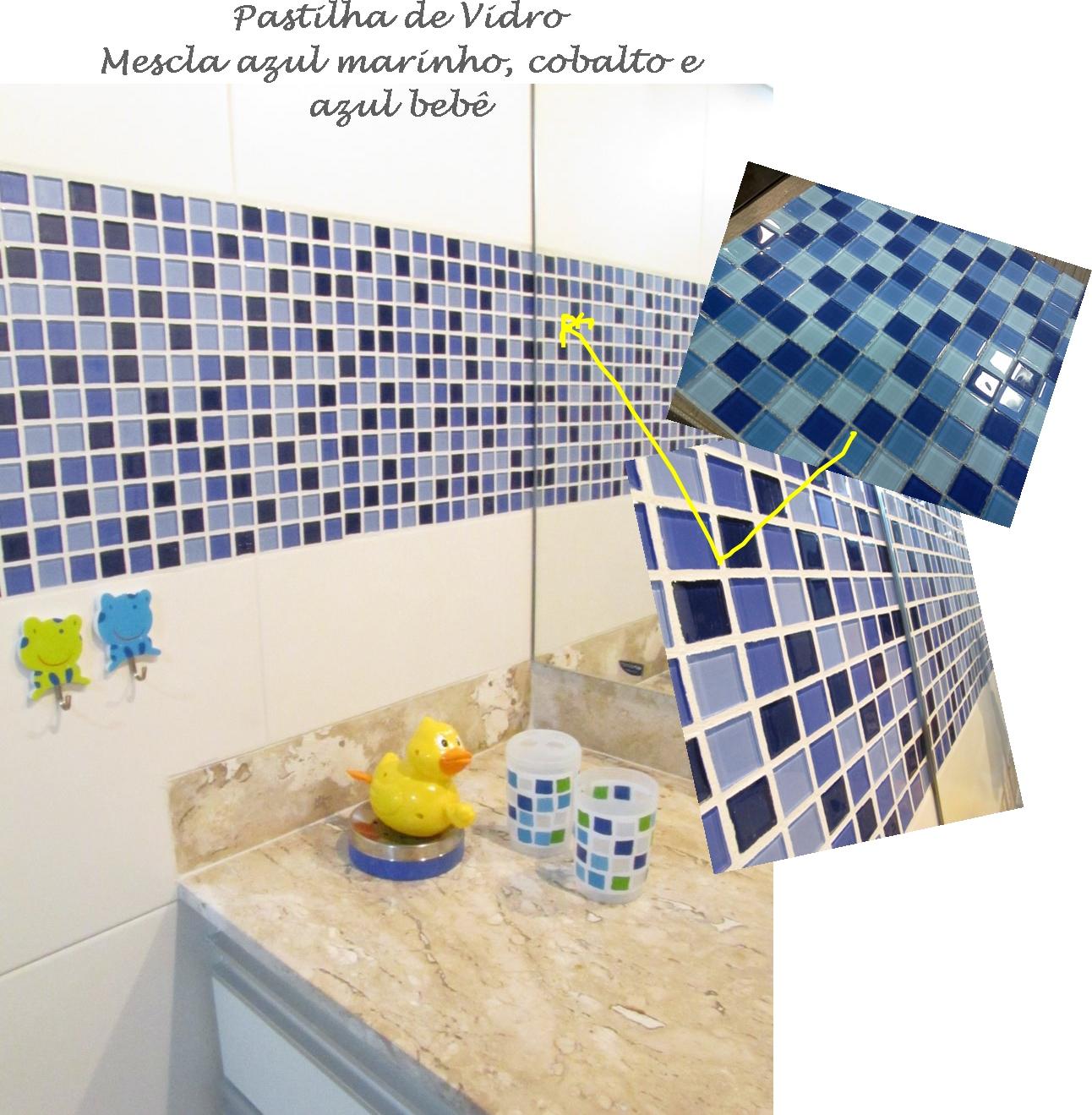 No banheiro do casal (o nosso) usamos a mesma tática e encostamos a  #B0A71B 1292x1319 Banheiro Com Pastilha Vertical