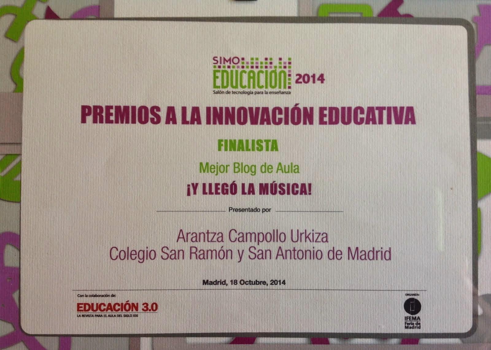 II Edición Premios Innovación Educativa SIMO 2014