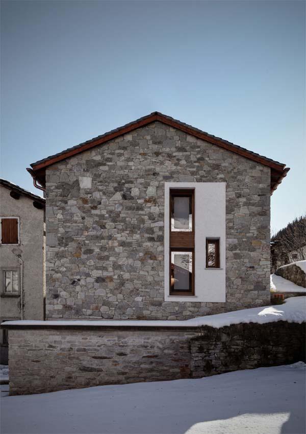 fachada posterior de la casa
