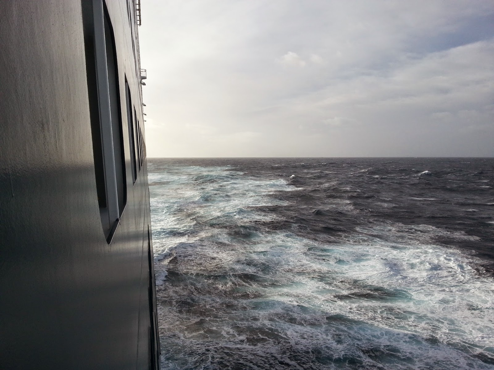 Queen Mary 2 (QM2) - Sheltered Balcony View